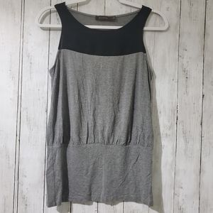 THE LIMITED SLEEVELESS BLACK AND GRAY  TOP.SIZE M